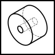 Rollengröße: Außendurchmesser x Breite / Lagerdurchmesser