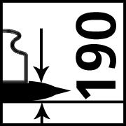 Max. Traglast bei 190 mm