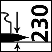 Max. Traglast bei 230 mm